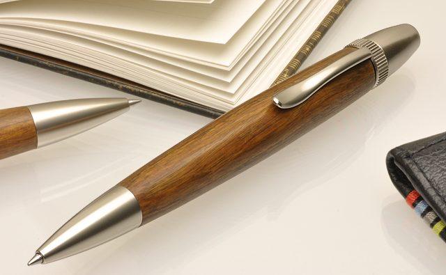 Pent〈ペント〉 ボールペン by杢杢工房 パトリオットスリム L-LUX004 リグナムバイタ
