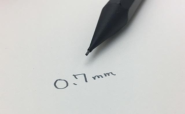 欧米では0.7mmペンシルが主流
