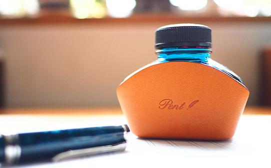Pent〈ペント〉 ヌメ革 ボトルインクホルダー ペリカンタイプ